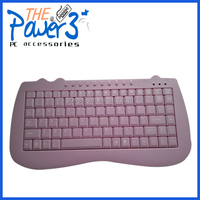 Pink cute musical keyboard with attractive layout