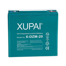 4 Pack 12V 22Ah xupai 6-DZM-20 6DZM20 Electric Scooter Bike Sealed Battery