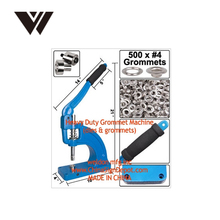 Hand press manual banner grommet machine