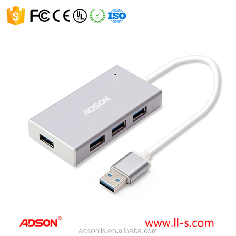 ADSON manufacturer Popular High/good quality Mini USB 3.0 data cable 4 port hub adapter for Laptop for PC