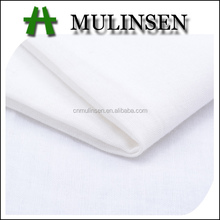 Mulinsen Textile High Quality Plain Dyed White Cotton Voile Handkerchief Fabric