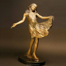 New products famous life size dancing girl bronze sculpture