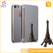 High quality luxury flip cover case for iPhone5/6/7,back case cover for smartphone