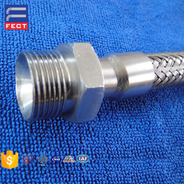 Stainless steel 304 braided & unbraided metal fire sprinkler flexible hose with competitive price
