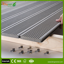 SGS Certification Waterproof Wood Plastic Composite WPC Decking Board Patio Slatted Panel Boards With Groove