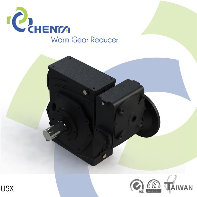 USX 5hp motor gearbox flange mounted reductor motorfor ac motor right angle sprial bevel gear box