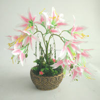 factory price Silk Flower Colorful natural touch cheap Artificial lily fake flower