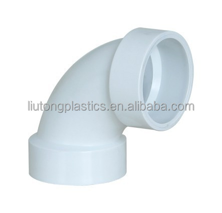 ASTM-D-2665 standard UPVC PLASTIC DWV fittings (elbow 90deg.elbow 45 ; tee ; socket ;end cap etc.)