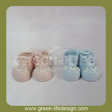Wholesale Baptism mini ceramic shoes