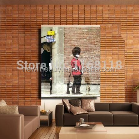 2014 Freeshipping England-based graffiti The royal guards HUGE BANKSY Hope CANVAS Art Print Home Wall painting DECOR