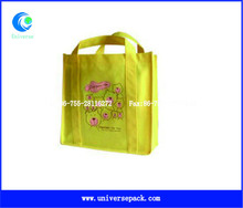 Shopping Dyeing Yellow Bag Nonwoven Nice Painted For Wholesale Export Tote Bags