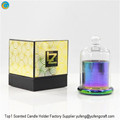 colorful glass candle dome jar Yufengcraft www.yufengcraft.cn