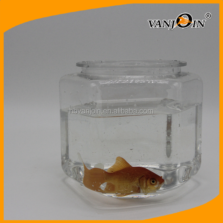 3.5L Desktop Hexagon Plastic Aquarium Fish Tank, PET Fish Container for Sale