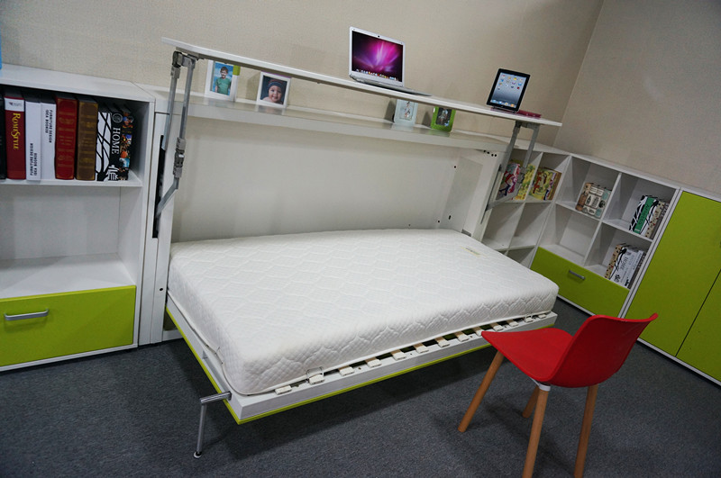 Folding Bed Automatic : Space saving innovative folding bunk bed wall hanging