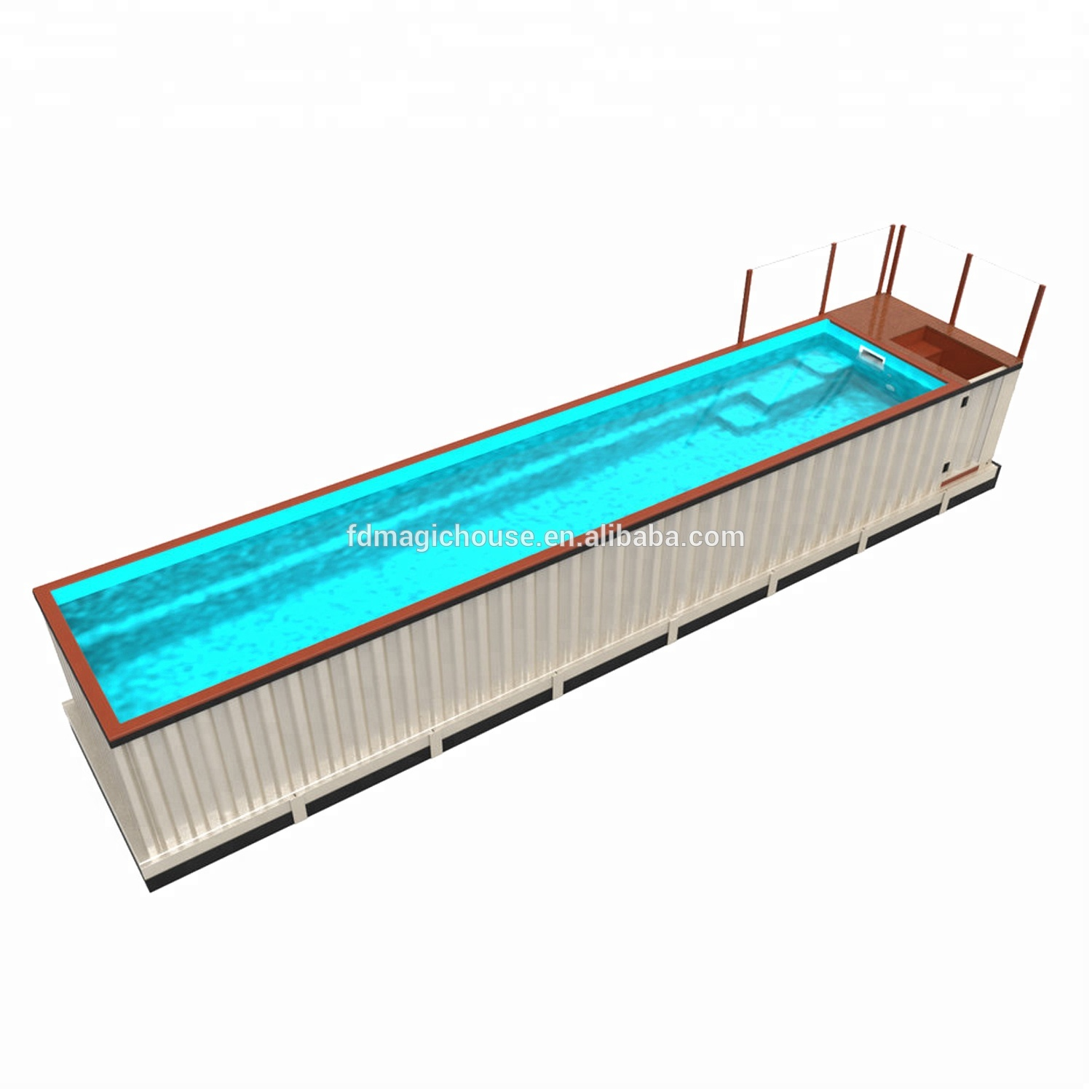 Steel Frame Building Prefab House Swimming Pool Shipping Container Pools  Cost 20ft Shipping Container Swimming Pool - Buy 20ft Shipping Container ...