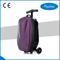 Mini cheap travel luggage scooter suitcase for sale