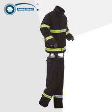 Shanghai Fangzhan Gold Nomex 3 layer fire fighting firemen protective safety suit