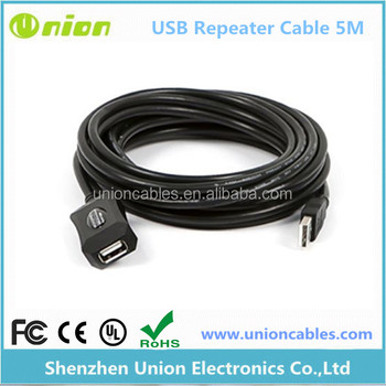 Brand New 5M Long USB 2.0 A Male to Female Repeater Extension Cable