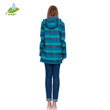 Attractive design pu womens long waterproof jacket