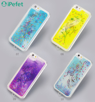 iPefet- 2016 New Colorful Liquid Waterfall Moving Glitter case for iPhone 6