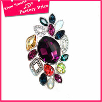2016 best selling fashion jewelry hong kong wholesale low moq customized company logo colorful rhinestone hair wedding brooches