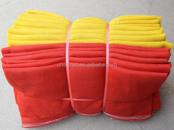 High quality PE construction safety net fencing net, yellow & red