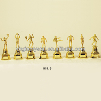 New Design Different Styles Plastic Gold Figures Trophy Parts Wholesale