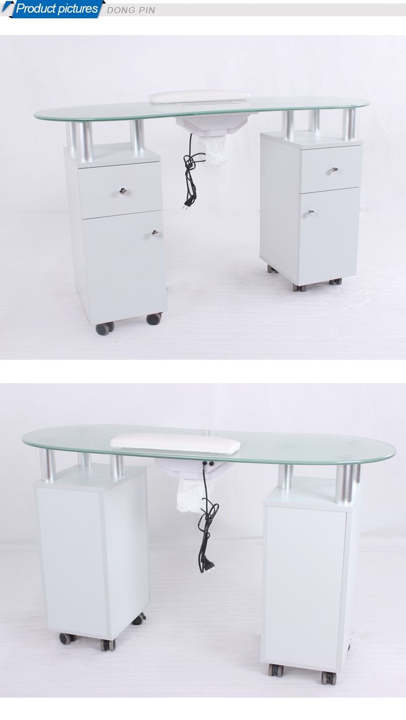 Beauty salon furniture nail manicure table witn exhaust for Manicure table with exhaust fan