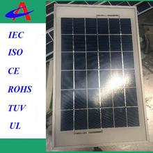 5W 9V solar panel with USB outlet