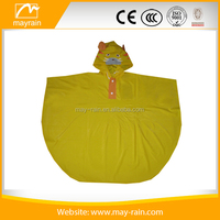 PVC rain poncho with hooded for children