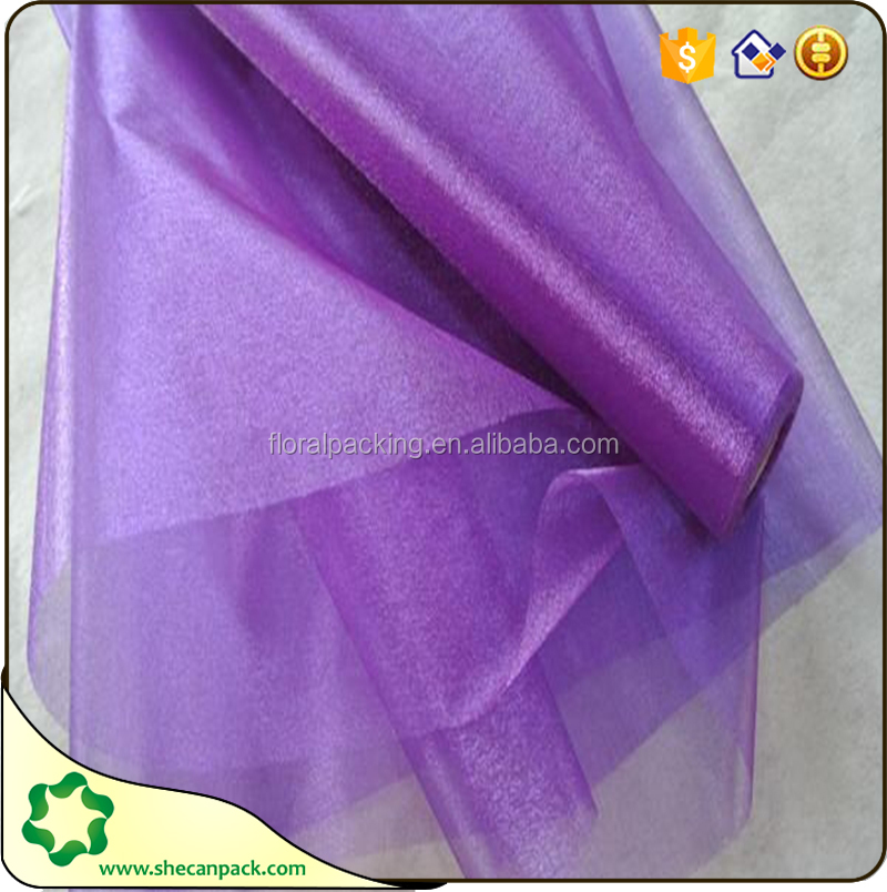 the new kind of colorful organza fabric roll