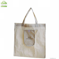 Folding cotton tote bag shopping bag