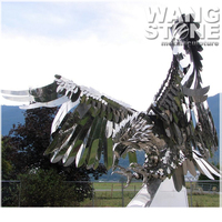 Large Outdoor Animal Stainless Steel Metal Eagle Statue