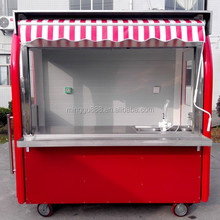 2017 shanghai CE Approved New Arrival Outdoor Mobile Food Trailer/ Street Mobile Ice cream Cart/Van/Truck hand push for hot dog