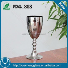 Wholesale Promotional Fancy Crystal Silver Wine Glass