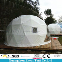 diameter 10m steel structure white dome tents for rent for amusement centers