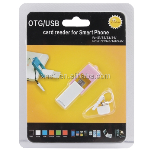 Rotation Style 2 in 1 OTG USB 2.0 Flash Drive Micro SD OTG Reader with Anti-dust Plug for Samsung