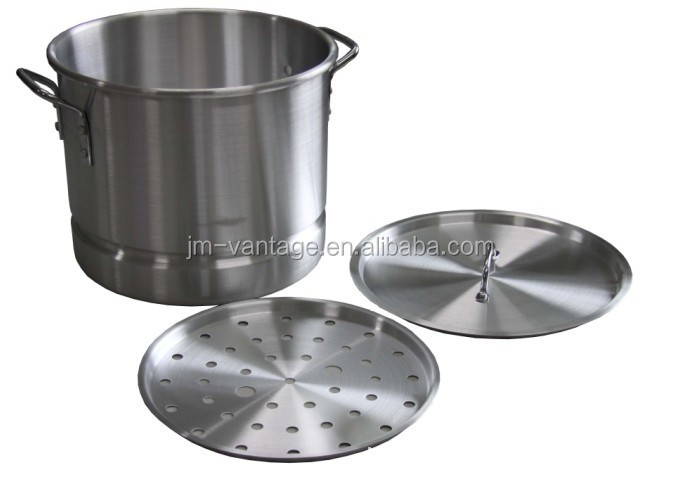 3 Piece Aluminum Tamale/Seafood Steamer pot