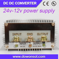 plastic waterproof case 1000w 24v to 12v dc-dc converter for solar system