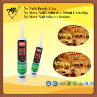 Fast Curing Liquid Nail Adhesives/No Nails Glue Strong Enough/Silicone Caulk Weathering Resistance No More Nails