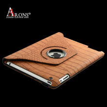 360 degree rotation design crocodile leather flip case for ipad air 2