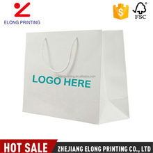 Professional made custom design recycled white kraft paper bag with logo printing