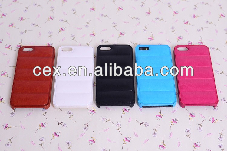 New Arrival Wholesales Special Sofa PU Leather with PC Plastic Hard Case Cover For Apple iPhone 5 5S