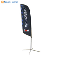 Durable Double Sided Beach Flag Flying Feather Flag Banner