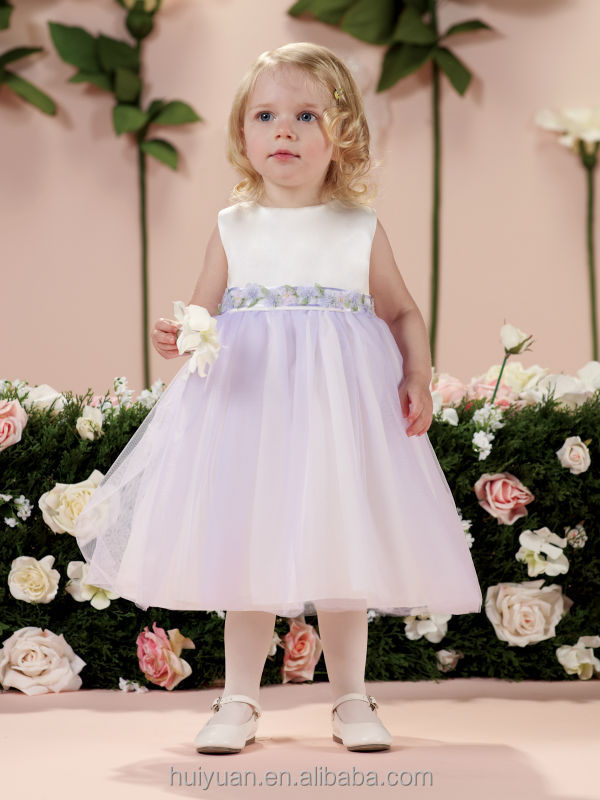 light purple baby gown off shoulder flower girls tulle dress