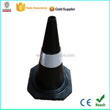 EN passed 3M reflective thread black rubber 28'' traffic cone