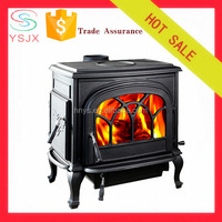 new design cast iron wood stove double doors with ventilation grille made in China