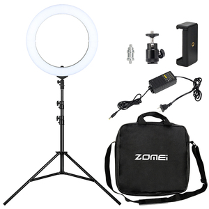 "Camera Phone Video Led Light 18"" 50W LED Ring Light 5500K Photography Dimmable Ring Lamp"