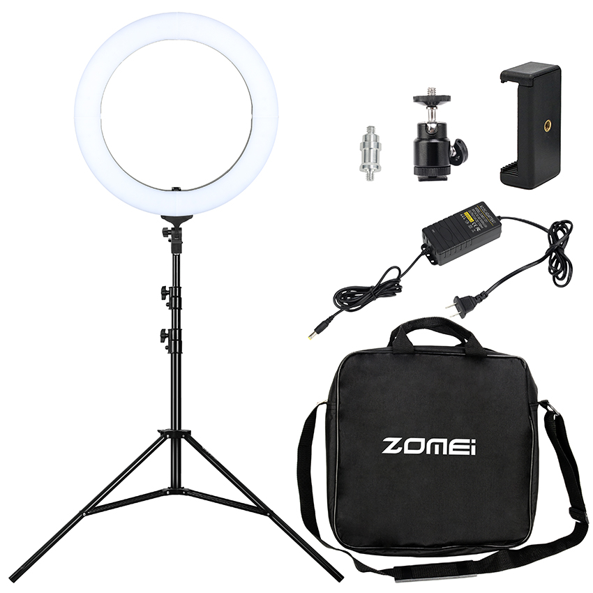 "Camera Photo Studio Phone Video Led Light 18"" 50W LED Ring Light 5500K Photography Dimmable Ring Lamp"