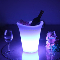 belvedere vodka bottle ice bucket 5L hot sale PP illuminated led ice bucket